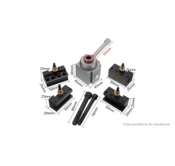 Mini Quick Change Tool Post Holder Kit Set for Table/Hobby Lathes